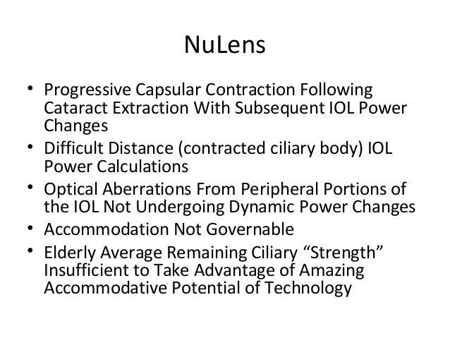 Nulens accommodating iols