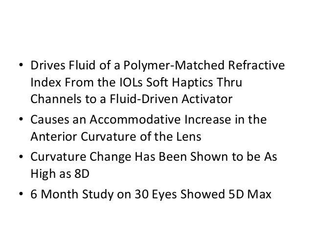 Fluid vision accommodating iol power vision program