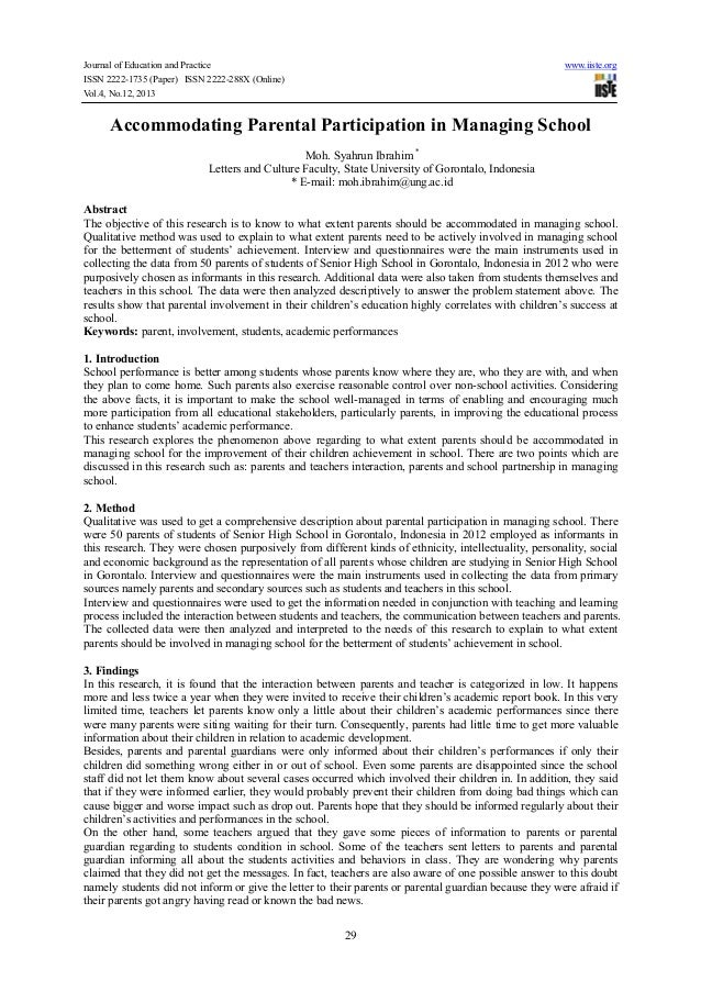 Journal of Education and Practice www.iiste.org ISSN 2222-1735 (Paper) ISSN 2222-288X (Online) Vol.4, No.12, 2013 29 Accom...