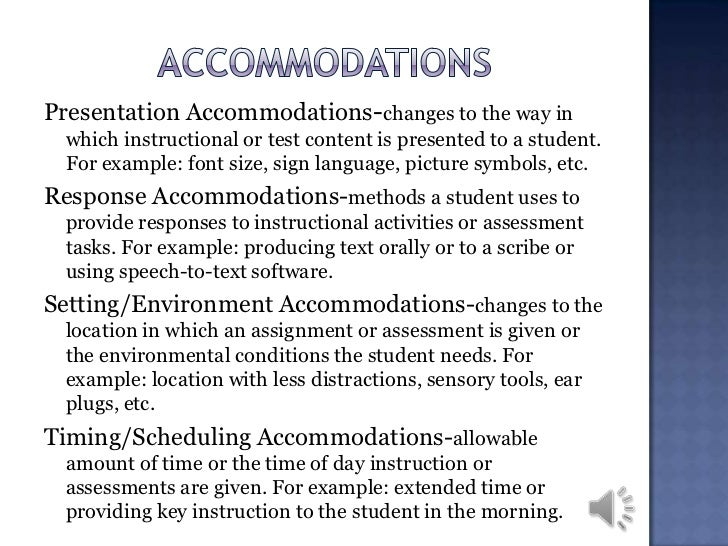 Accommodations for Students | Disability Services