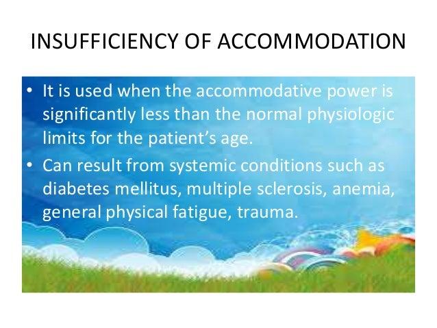 TREATMENT • Correct any refractive error. • Practise of any accommodation exercise.
