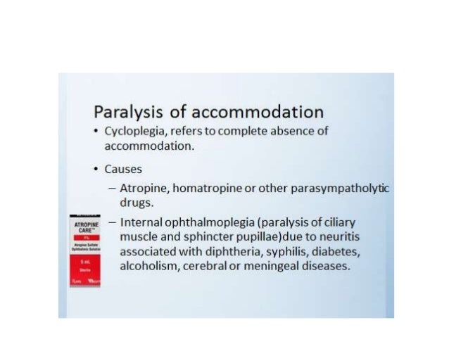 SPASM OF ACCOMMODATION • It refers to exertion of abnormally excessive accommodation which is out of the voluntary control...