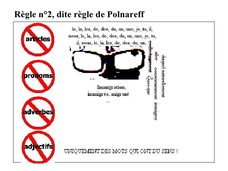 Règle n°2, dite règle de Polnareff