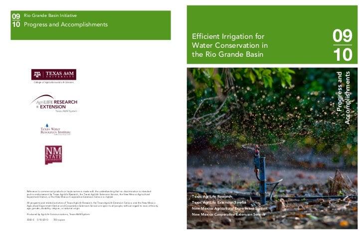 09   Rio Grande Basin Initiative10   Progress and Accomplishments                                                         ...