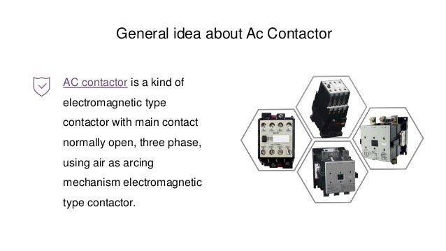 Ac contactor working principle and structure
