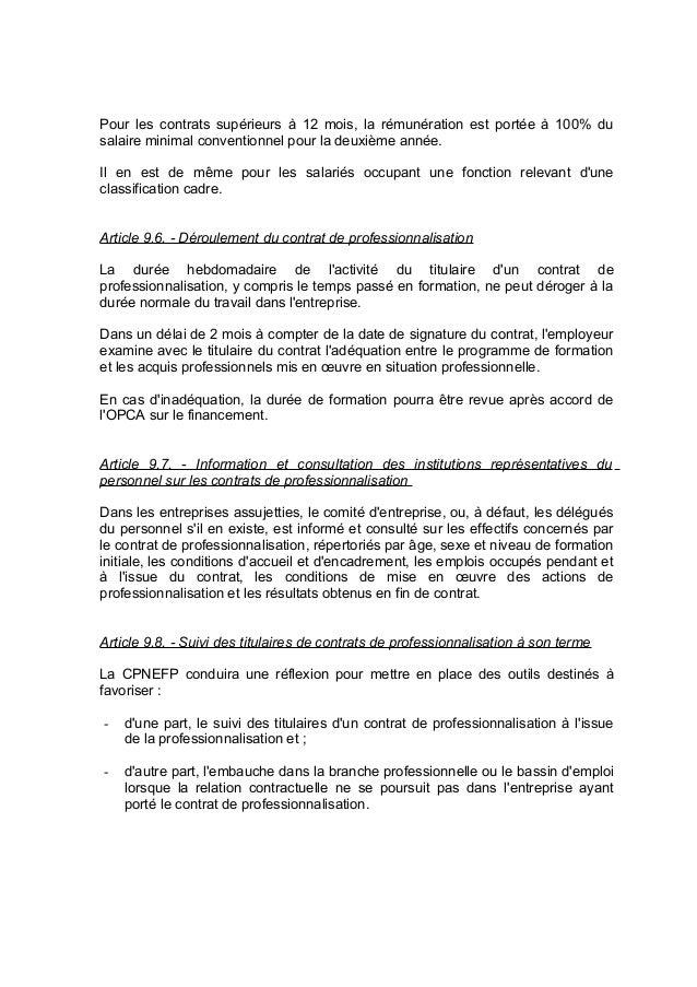 Idcc 2098 accord formation professionnelle - Grille salaire contrat de professionnalisation ...