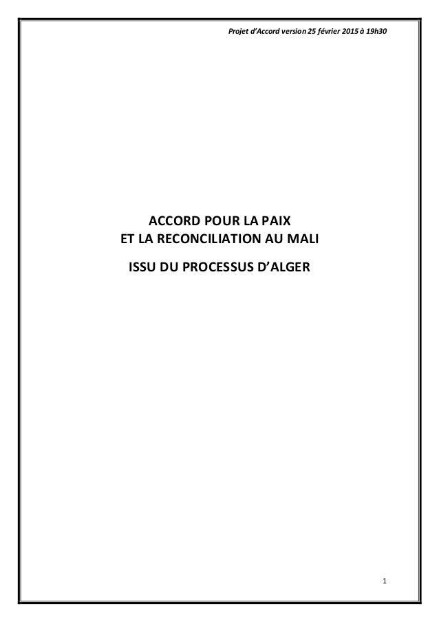 Projet  d'Accord  version  25  février  2015  à  19h30   1                             ...