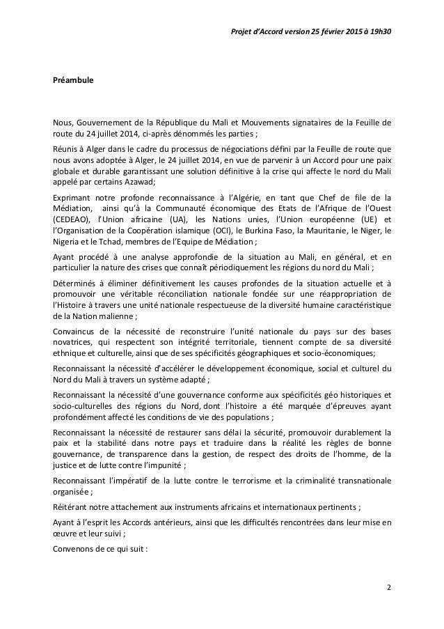 Accord pour la paix et de reconciliation au Mali par Malikahere.com Slide 2