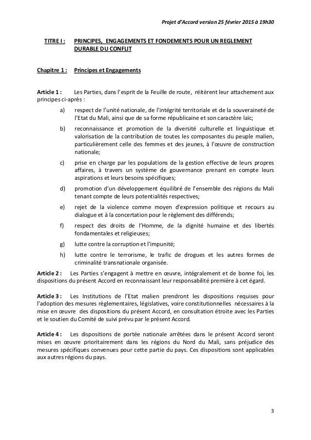 Accord pour la paix et de reconciliation au Mali par Malikahere.com Slide 3