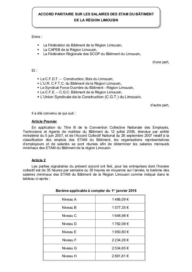 Grille des salaires minima des ouvriers et etam des travaux publics de idcc accord salaires - Grille de salaire syntec ...