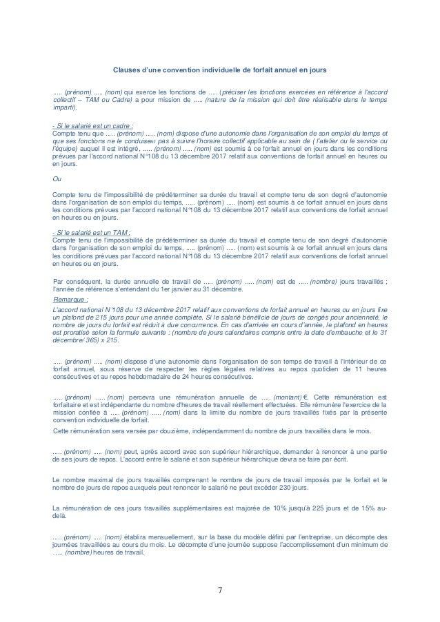 Idcc 1396 Accord Conventions De Forfait