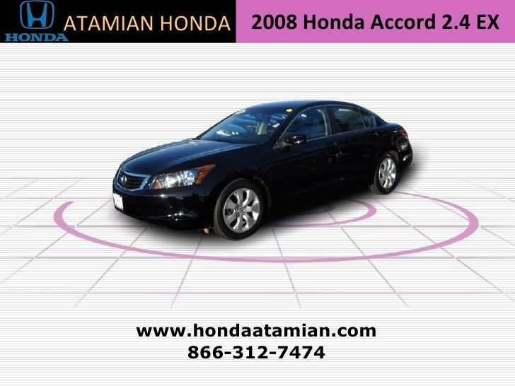 Honda Accord 2 4 Ex Sedan 2008 Cambridge Ma