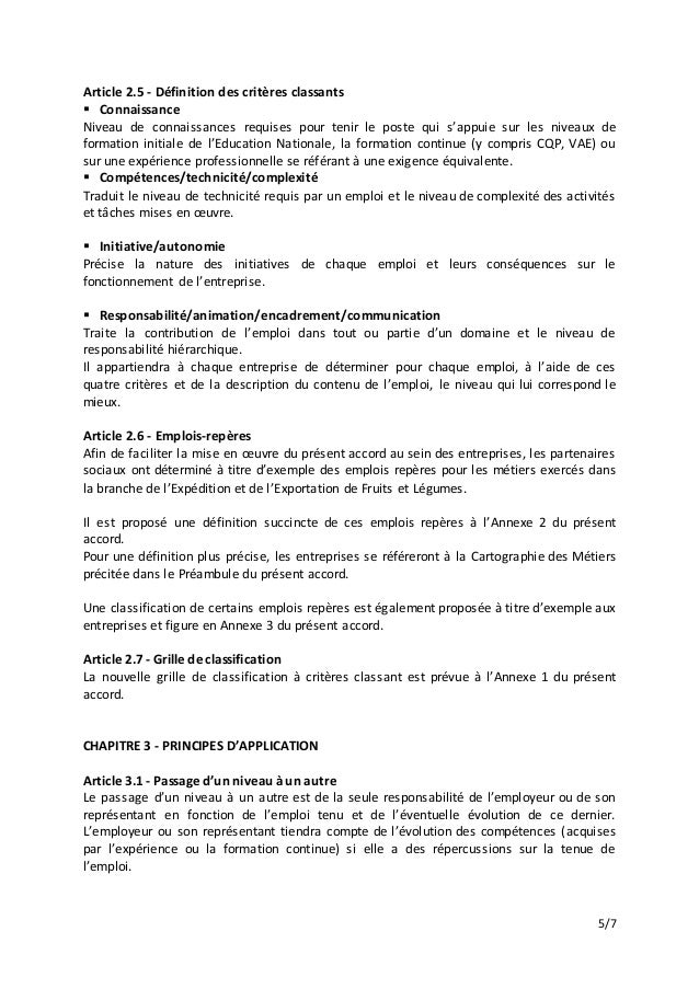 Idcc 1405 accord classification emplois - Grille indiciaire adjoint administratif education nationale ...