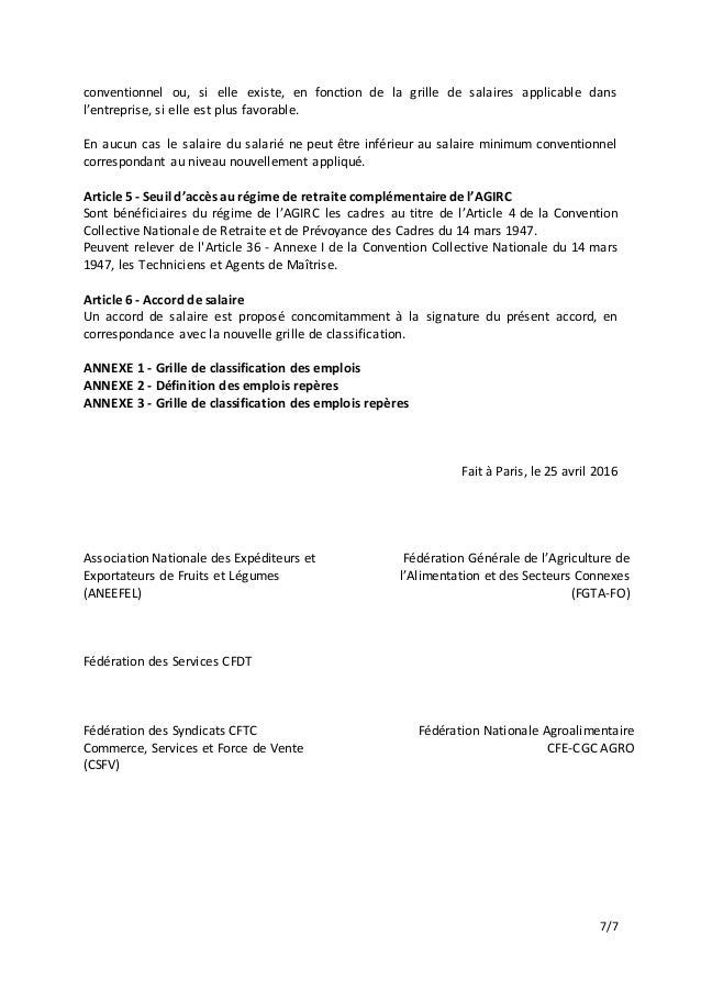 Idcc 1405 accord classification emplois - Grille de classification des salaires ...