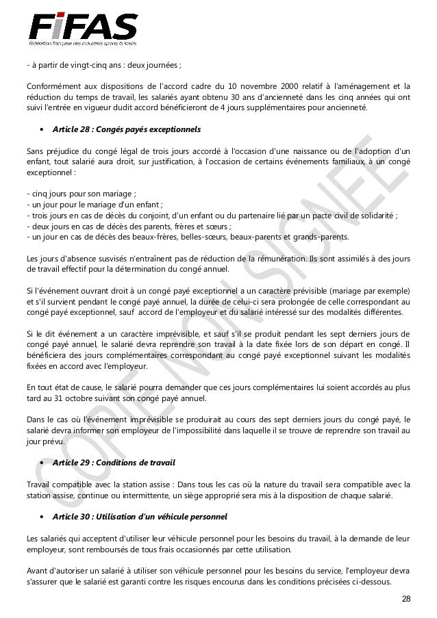 Clauses Generales Dans La Ccn Des Industries Du Camping