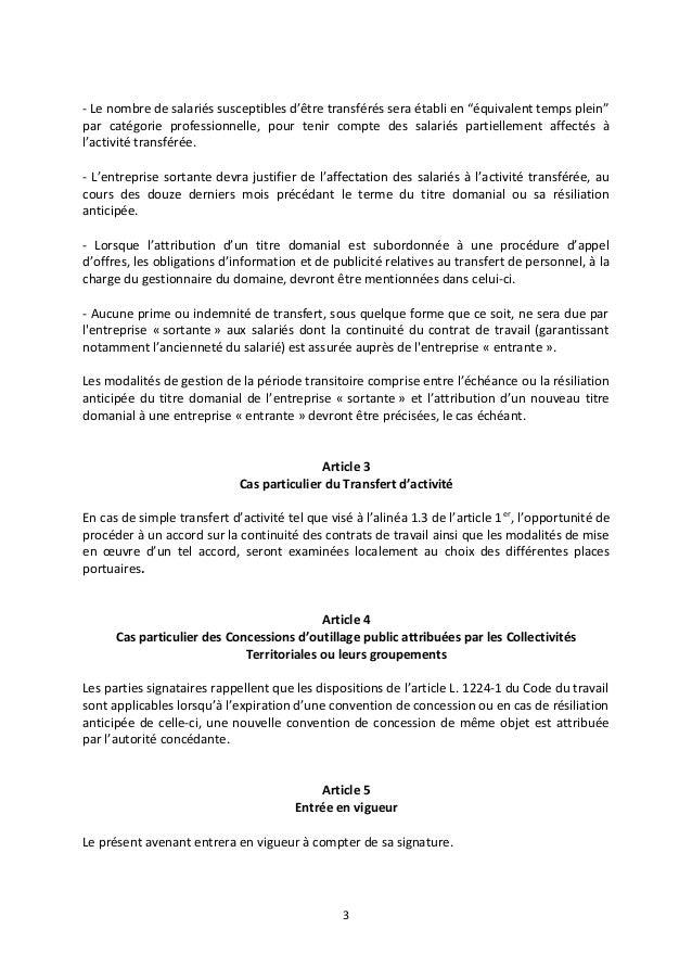 Idcc 3017 Accord Continuite Contrats Travail 3 Novembre 2016