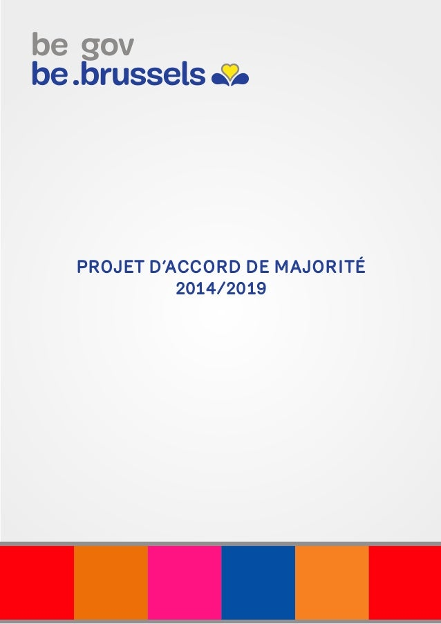 PROJET D'ACCORD DE MAJORITÉ 2014/2019
