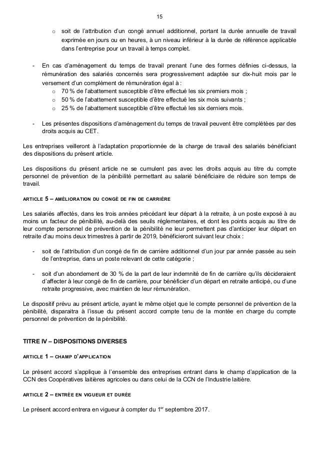 Idcc 112 Accord Du 29 Juin 2017 Sur La Penibilite