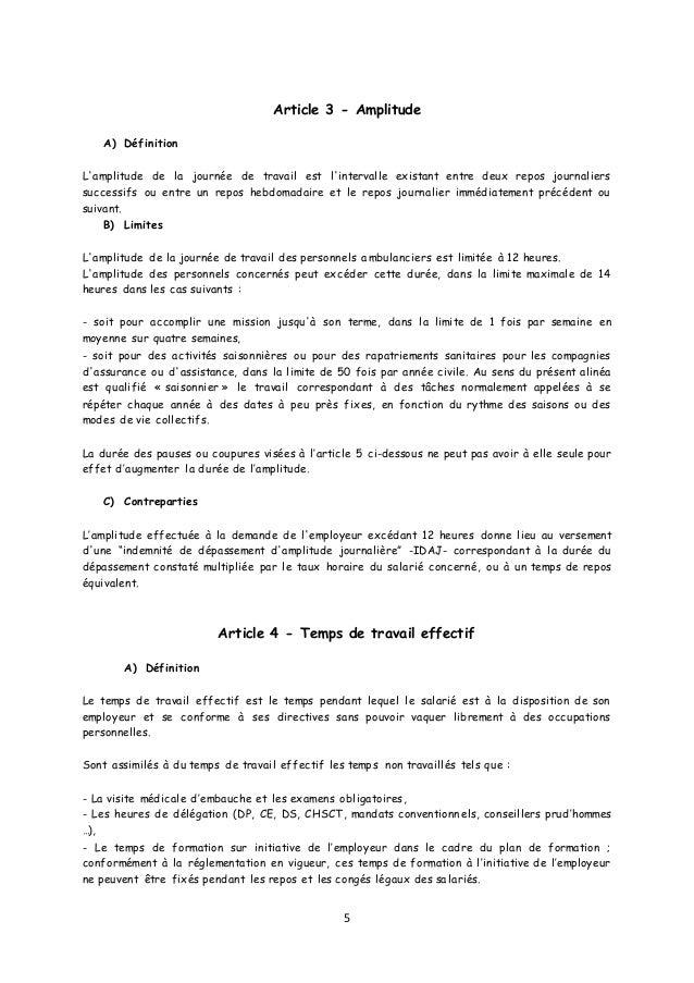 Idcc 16 Accord Duree Et Organisation Du Travail