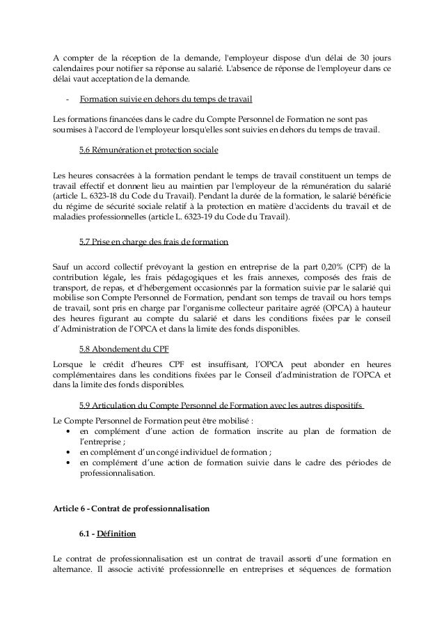 Idcc 2270 Accord Formation Professionnelle