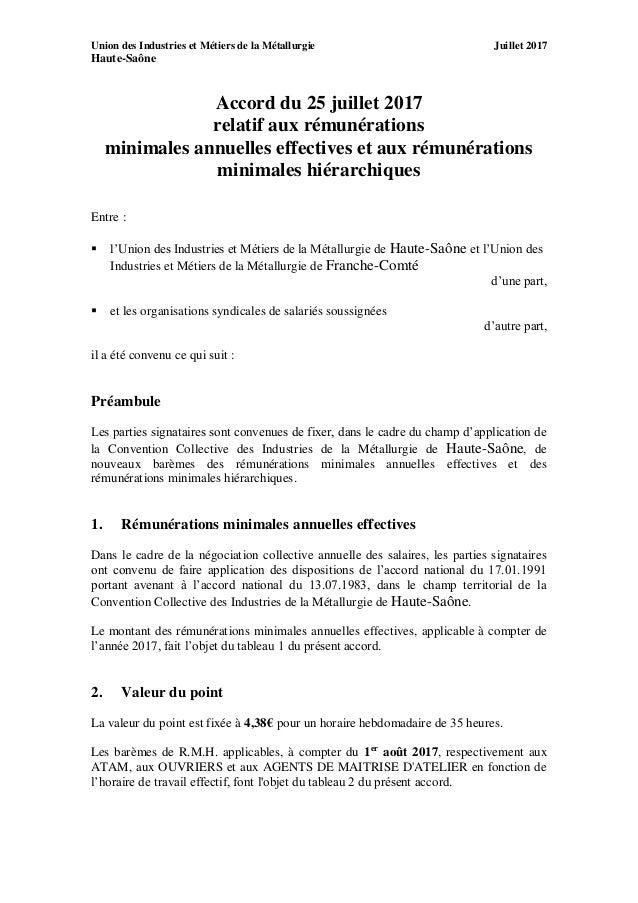 Idcc 3053 Accord Sur Les Salaires