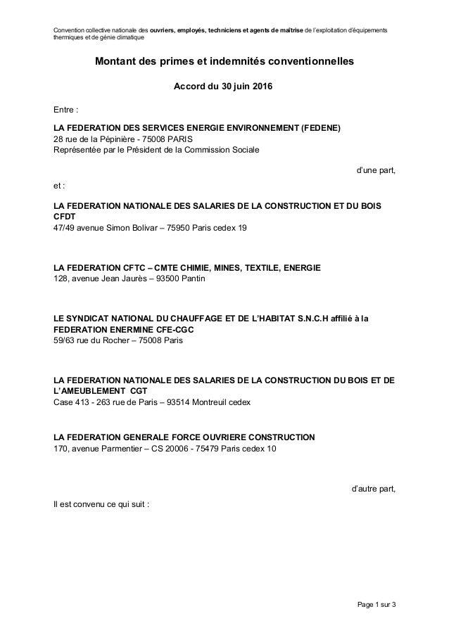 Convention collective nationale des ouvriers, employés, techniciens et agents de maîtrise de l'exploitation d'équipements ...