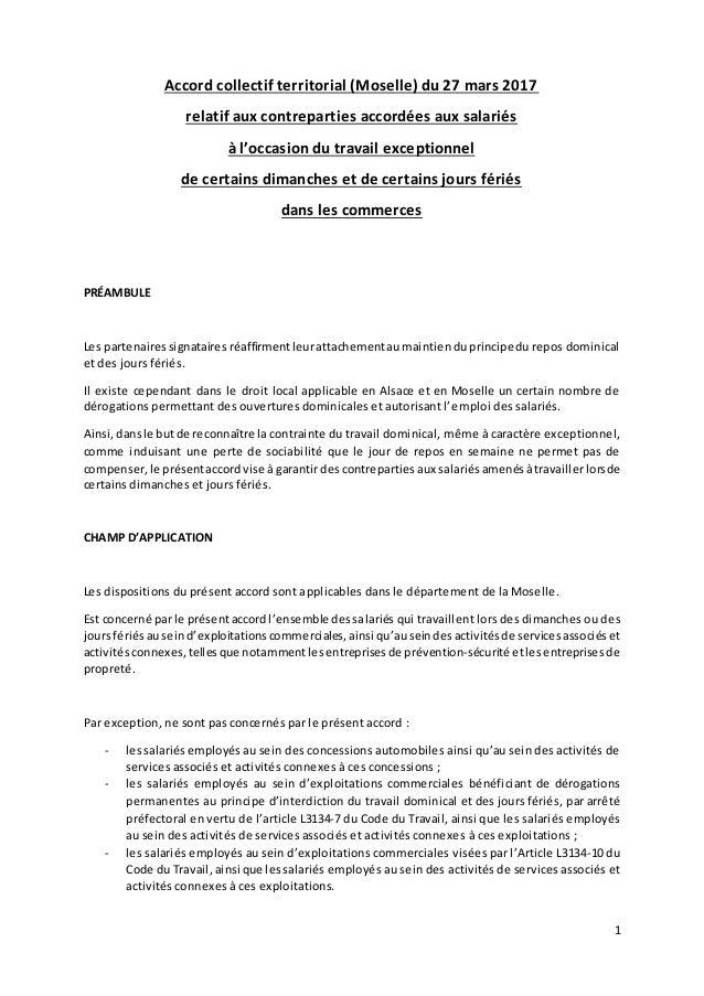 ffb3ad1975f 1 Accord collectif territorial (Moselle) du 27 mars 2017 relatif aux  contreparties accordées aux 2 DIMANCHES ET JOURS FERIES ...