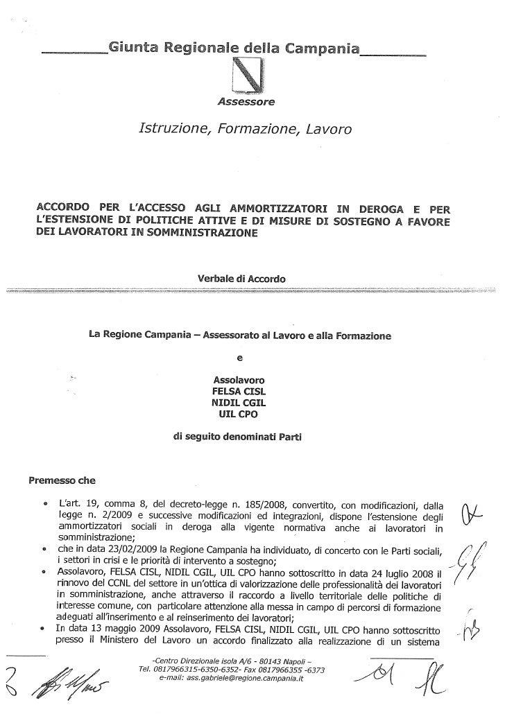Accordo Campania