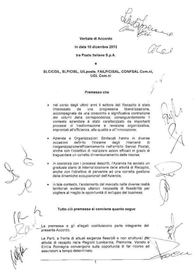 Accordo assorbimento agenzie