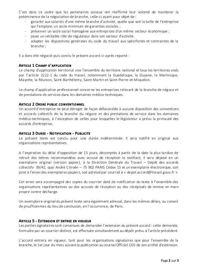 Idcc 1982 Accord Ordre Public Conventionnel