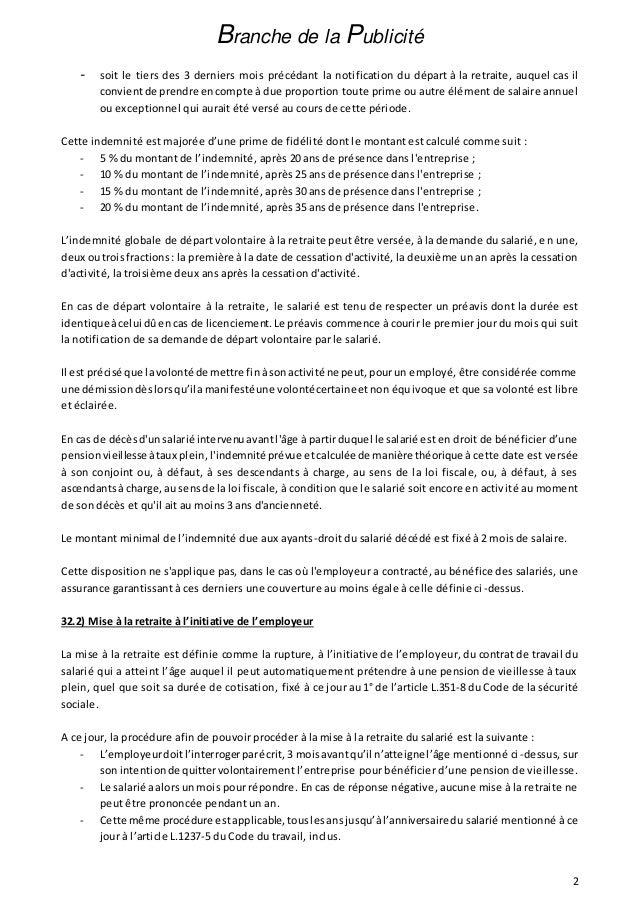 Idcc 86 Accord Relatif A L Indemnite De Fin De Carriere