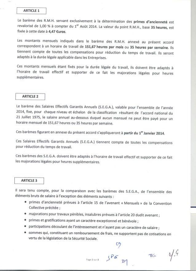 Accord salaire 12 août 2014 - Accord salaires - Journal Officiel du 28 novembre 2014