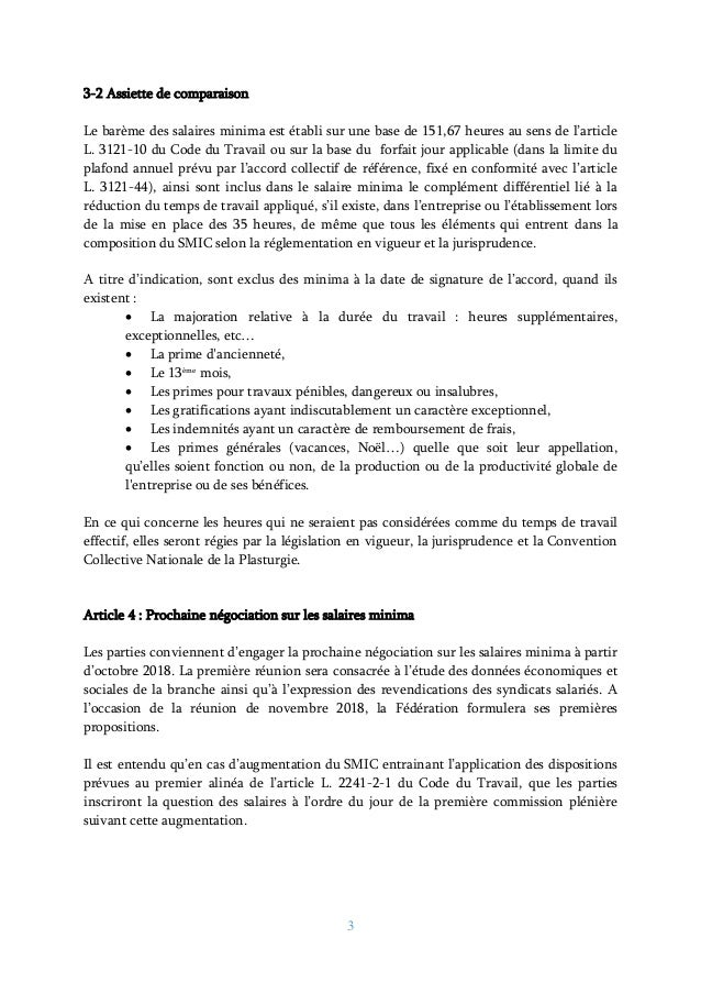 Idcc 292 Accord Salaires