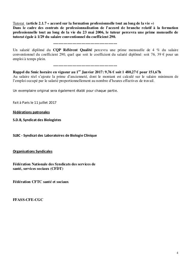 Idcc 959 Accord Salaires