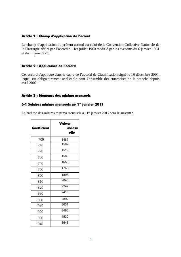 Idcc 292 Accord Salaires Du 15 Decembre 2016 Version Word