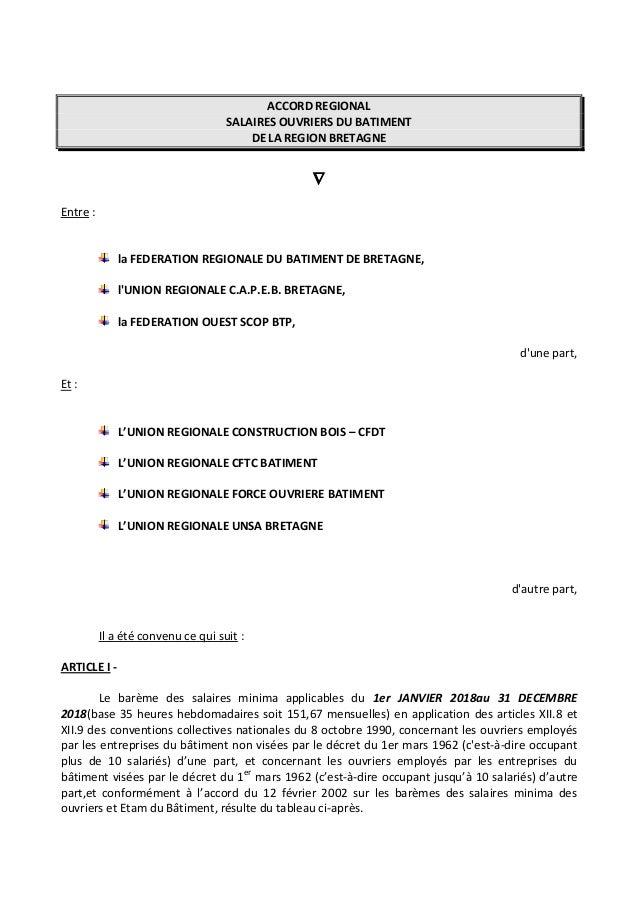 d90852f6694 ACCORD REGIONAL SALAIRES OUVRIERS DU BATIMENT DE LA REGION BRETAGNE  Entre    la FEDERATION REGIONALE ...