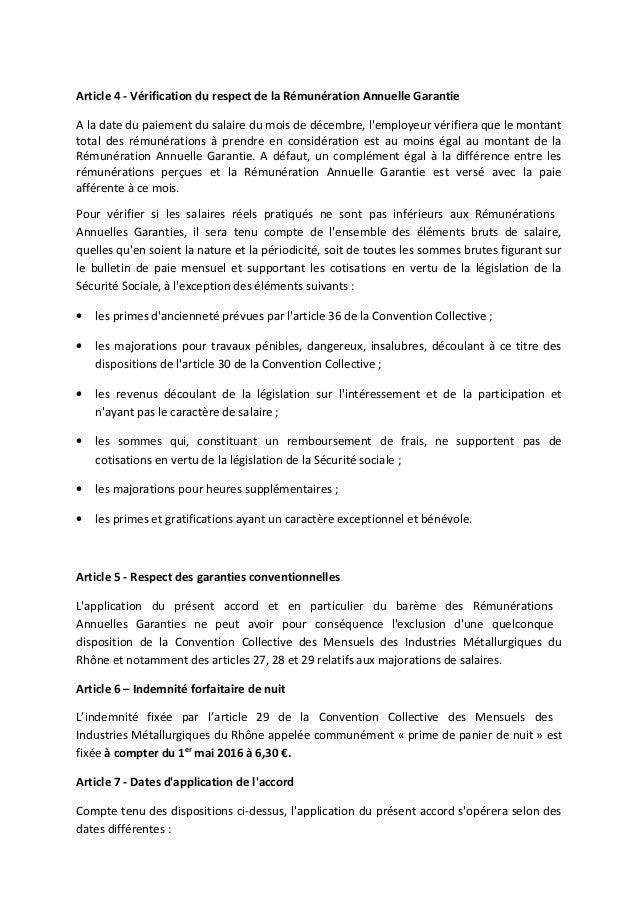 Convention Collective Metallurgie Du Rhone