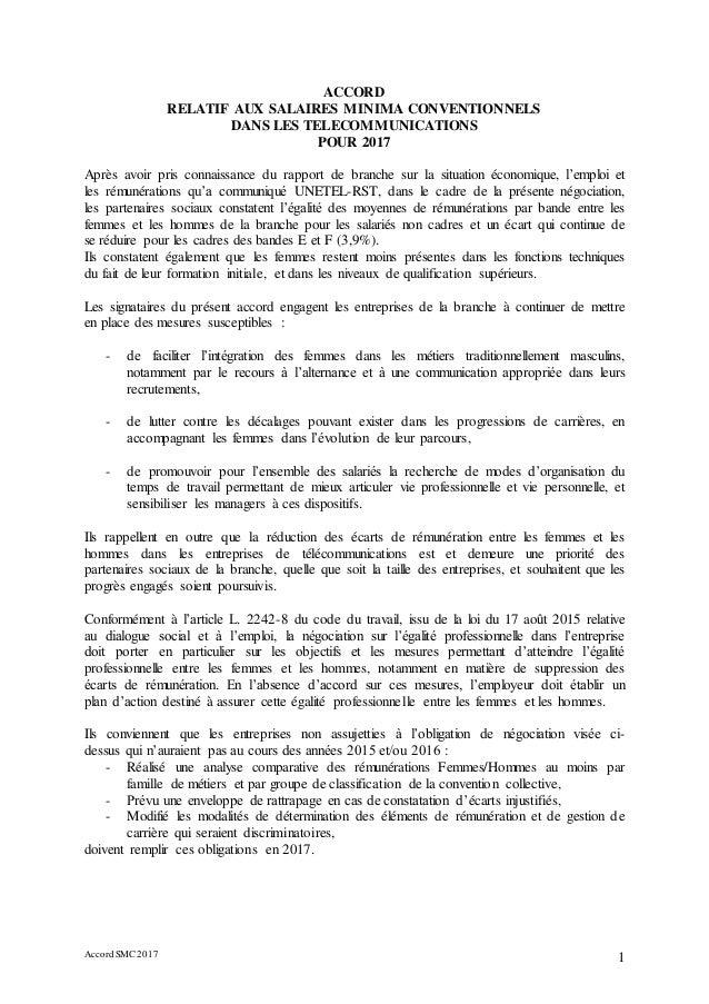 Idcc 2148 Accord Sur Les Salaires Dans La Ccn Des Telecommunications