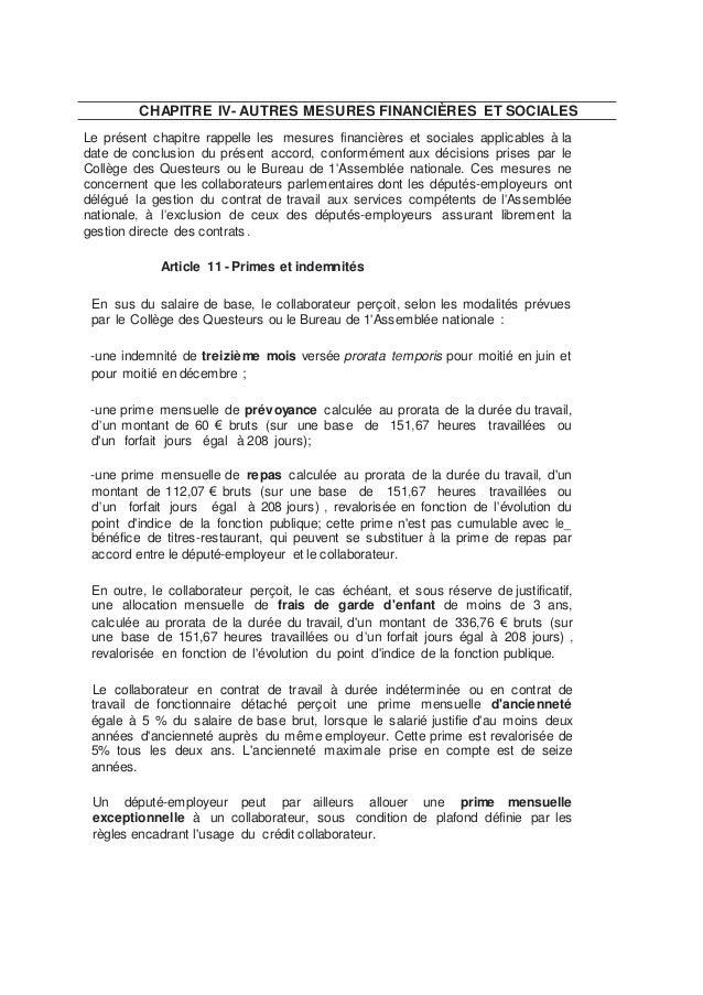AP 20135 Accord temps travail collaborateurs de députés