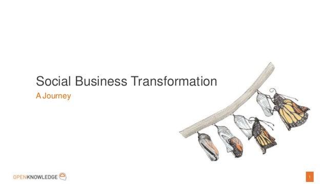 1Social Business TransformationA Journey