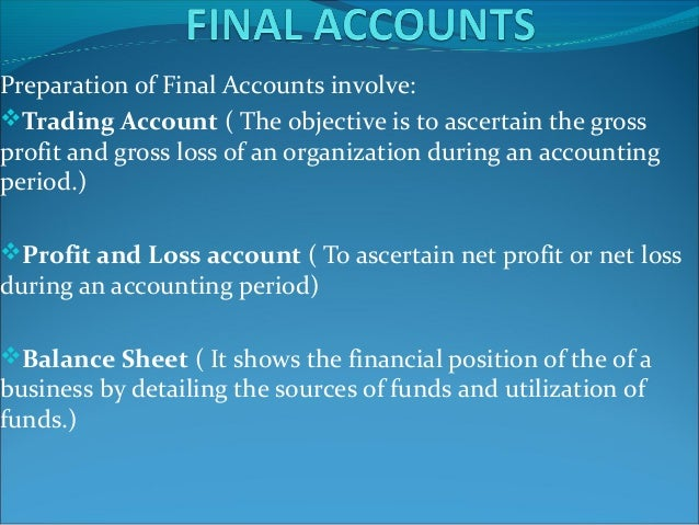 conclusion of final accounts