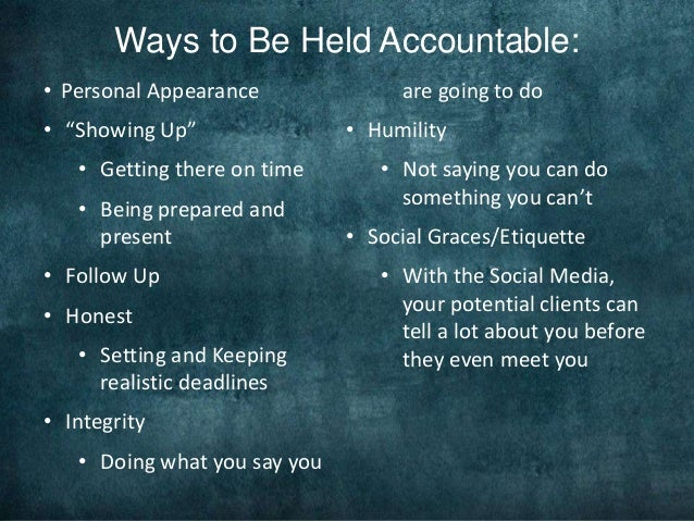 What is the importance of accountability in the army?