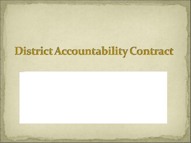 Accountability  Contract    Kennedy