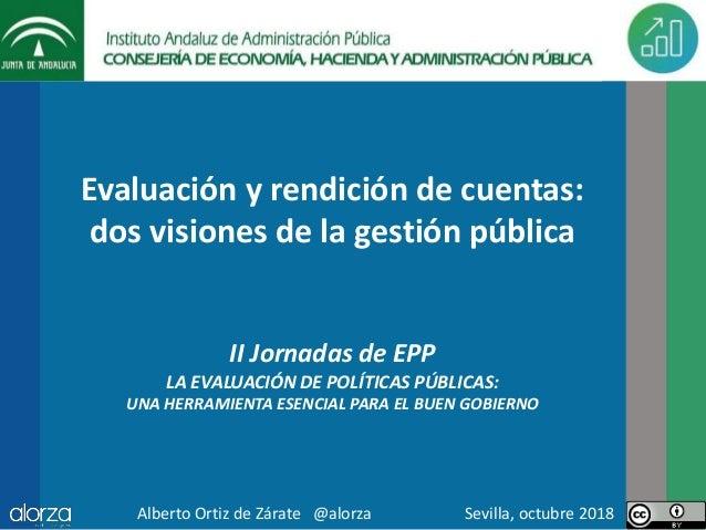 Evaluación y rendición de cuentas: dos visiones de la gestión pública II Jornadas de EPP LA EVALUACIÓN DE POLÍTICAS PÚBLIC...