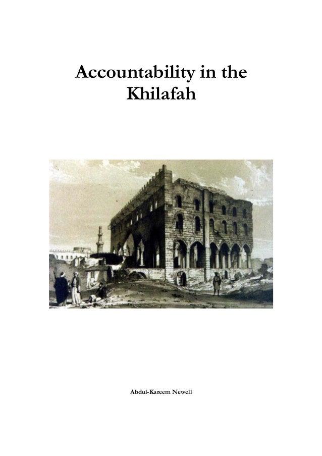 Accountability in the Khilafah  Abdul-Kareem Newell