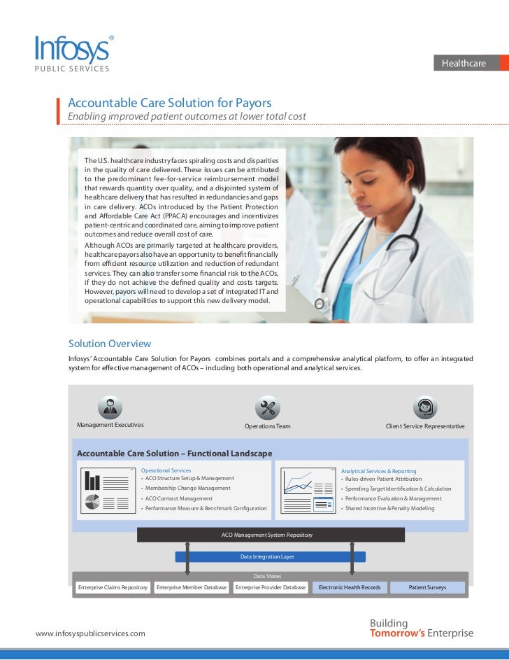 Healthcare        Accountable Care Solution for Payors        Enabling improved patient outcomes at lower total cost      ...