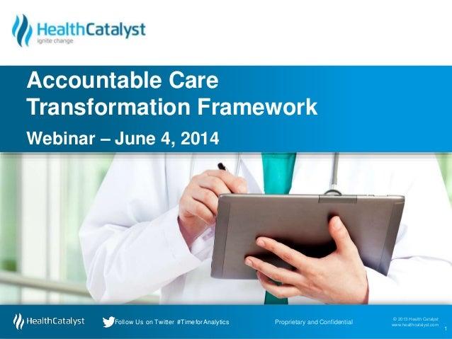 © 2013 Health Catalyst www.healthcatalyst.comProprietary and ConfidentialFollow Us on Twitter #TimeforAnalytics © 2013 Hea...