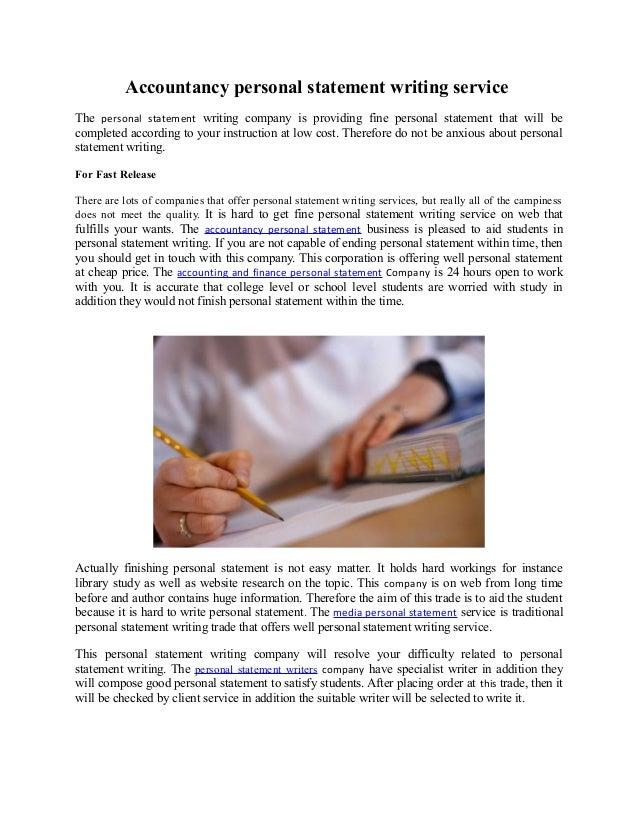 Personal statement writing company video