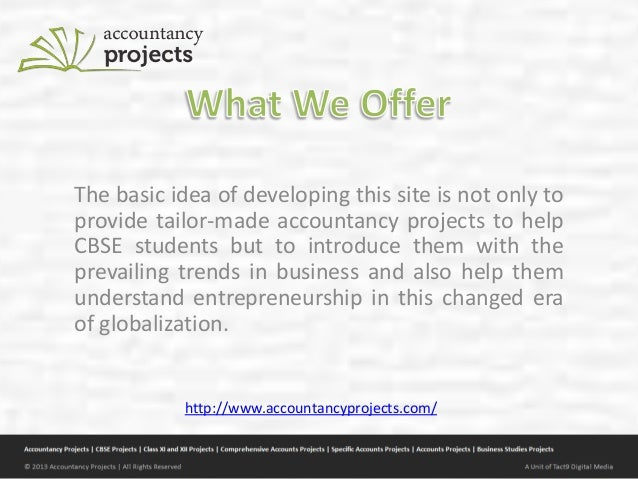 Accountancy projects for cbse students Slide 3
