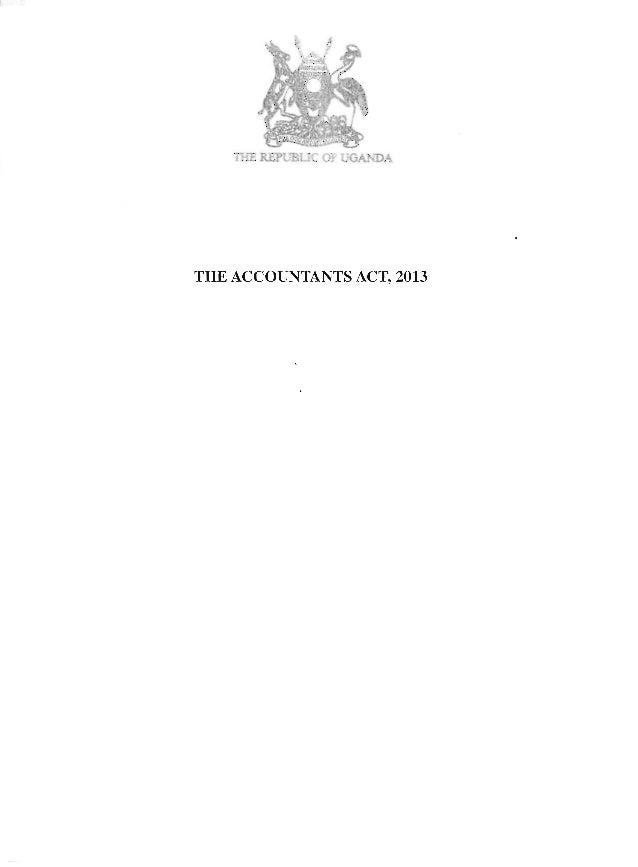 THE ACCOUNTANTS ACT, 2013